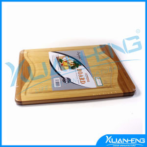 Surfboard Shaped Bamboo Cutting Board Kitchen Bamboo Board with LFGB pictures & photos