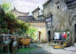 Traditional Landscape Oil Painting Art Indian Village Paintings (ESL-089) pictures & photos