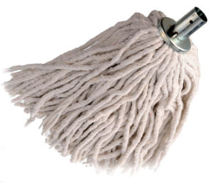 Metal Head with Wooden Handle Cotton Mop (SQ-035) pictures & photos
