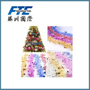 PVC 3cm Christmas Gift Tinsel for Christmas Tree Decoration pictures & photos