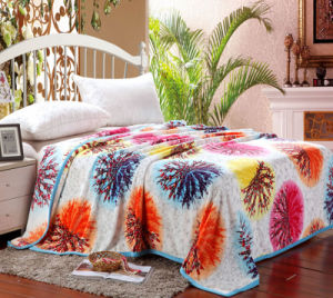 King Size 100% Polyester Printing Super Soft Micro Fleece Flannel Blanket