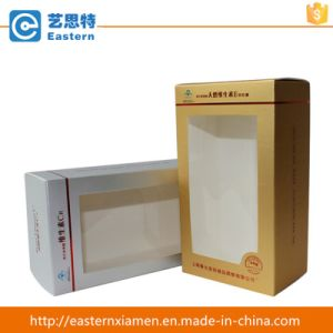 Cosmetic Storage Paper Box with PVC Window pictures & photos
