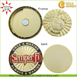 3D Gold Metal Coin with Magnet pictures & photos