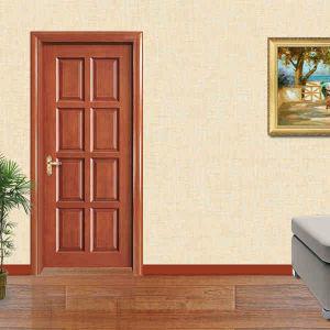 Chinese Wooden Door Steel Security Interior Door pictures & photos