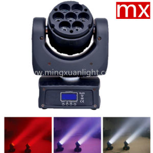 7X12.8W 4in1 RGBW DMX LED Mini Wash Head Moving Light pictures & photos