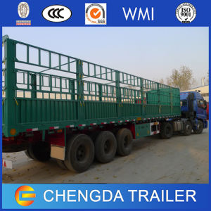 3 Axles Cargo Semi Trailer/60t Sidewall Cargo Trailer pictures & photos