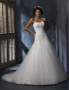 White Bridal Dress (Z-047)