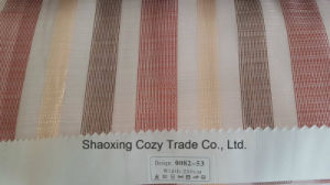 New Popular Project Stripe Organza Voile Sheer Curtain Fabric 008253 pictures & photos