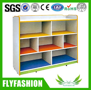 Kids Furniture Wooden Kids Toy Cabinet with Wheels (SF-116C) pictures & photos