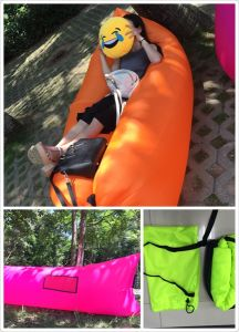 Terylene Fabric Inflatable Sleeping Bag Hangout Bag pictures & photos