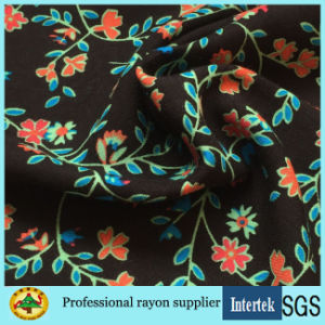 Light Weight Small Printing Floral Viscose Fabric for Girls Dresses pictures & photos