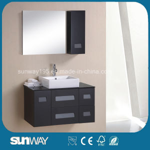 Wall Hung Modern Design MDF Bathroom Cabinet with Mirror pictures & photos