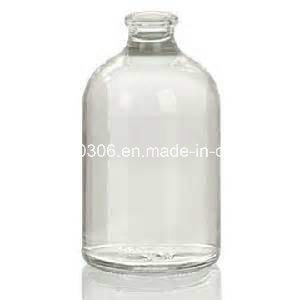 100 Ml Type II and III Clear Sterile Molded Injection Glass Vial pictures & photos
