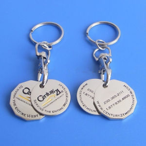 Trolley Coin Key Chain (ASNY-TC-IX-003) Shop Cart Coin Key Holder pictures & photos