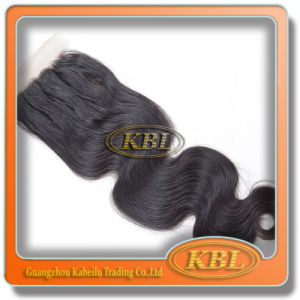 Top Closure 4*4 of Brazilian Hair Weaving on Line pictures & photos