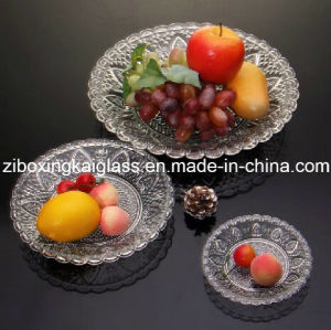 Clear Glass Plate Glass Bowl, Can with Spraying Color