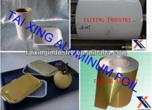 8011/O Withe Lacquered Aluminium Foil for Airline Container
