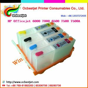 920 Refill Ink Cartridge for HP Officejet 7500 (CISS, cartridge, chips, printheads)