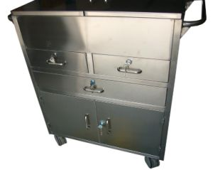 Stainless Steel Medical Emergency Trolley pictures & photos