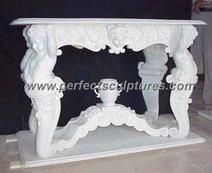 Antique Stone Marble Table for Outdoor Garden Decoration (QTB007) pictures & photos