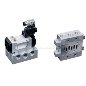 ISO2 Standard Solenoid Valve 5/2 With Manifold Base
