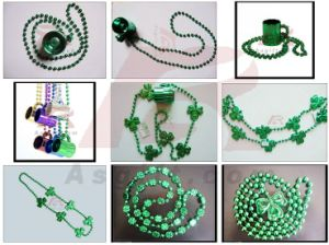 St. Patrick′s Shamrock Necklace with Beer Cup (ASB-SPS-BEER CUP)