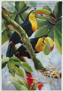 Animal Paintings -Bird Oil Painting