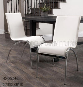 Hot Sale Modern PU Leather White Comfortable Dining Chair (NK-DCA064) pictures & photos