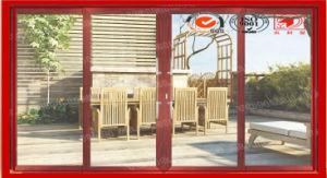 Hurricane Safe Wood Grain Finish Sliding Aluminum Door pictures & photos