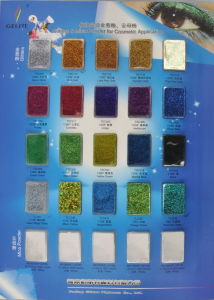 Color Card for Cosmetic Grade Glitters