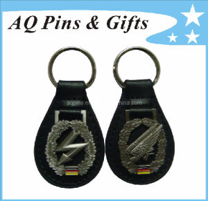 Custom PU Leather Keychains with 3D Logo pictures & photos