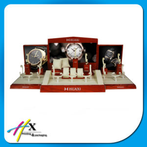 Factory Direct Sell Luxury Custom MDF Wooden Watch Display Set pictures & photos