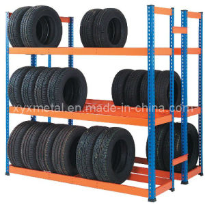 Selective Powder Coated Warehouse Tyre Storage Rack Shelving pictures & photos