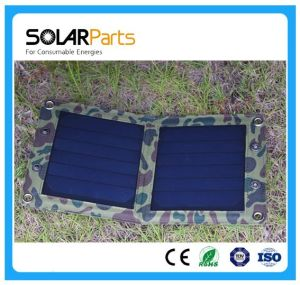 7W Foldabel Solar Charger with High Efficiency Solar Cell