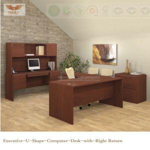 Fsc Certified Wooden Veneer Office Clerk Desk for Furniture pictures & photos
