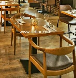 Cafeteria Used Wooden Restaurant Furniture for Table and Chair Set pictures & photos