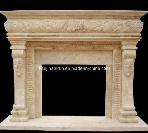 Stone Carving  Fireplace Mantel (XF266) pictures & photos