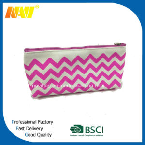 China Top Supplier Canvas Wave Printing Pencil Bag pictures & photos