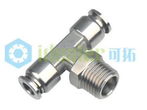 316L Stainless Steel Push Connector--Male Tee (SSPT12-02) pictures & photos