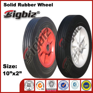 Chinese 10X2 White Rubber Caster Wheel for Sale pictures & photos