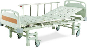 Three Crank Two Way Holding Hospital Bed (ALK06-A326P) pictures & photos