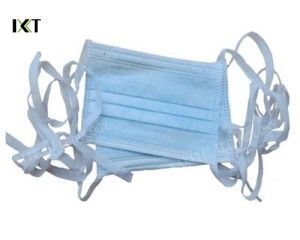 Disposable Non-Woven Surgical Stock Face Mask Manufacturer with Tie Kxt-FM49 pictures & photos