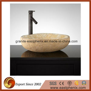 Natural Stone Vessel Sink for Outdoor pictures & photos