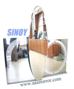 Qingdao 5mm Beauty Double Coated Bathroom Wall Silver Mirrors (SMI-SM1004) pictures & photos