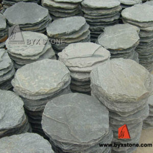 Green Irregular Round Stepping Stone Slate for Outdoor pictures & photos