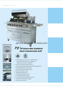 "75"" All Heavy-Duty Stainless Steel Construction Grill pictures & photos"