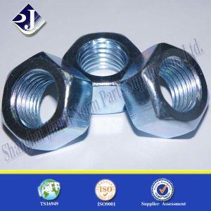 Hex Nut (Blue white zinc) pictures & photos