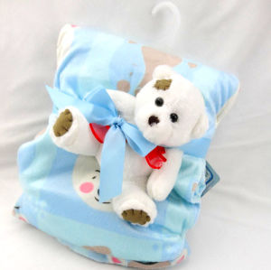 Baby Blanket with Plush Toy -Wounded Bear (SFT01BB021) pictures & photos