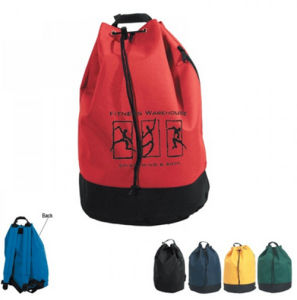 Sport Gym Polyester Drawstring Backpack in Red pictures & photos