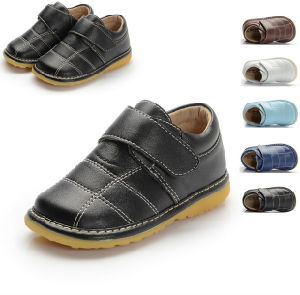 Spring Baby Boy Squeaky Shoes Genuine Leather Inside Baby Shoes Kids Casual Shoes Different Colors